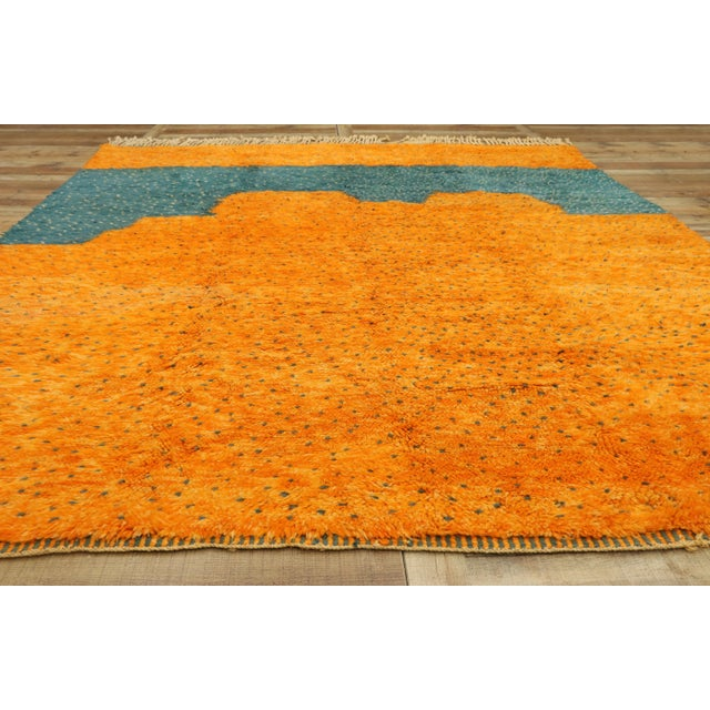 Textile Moroccan Contemporary Berber Area Rug - 08'09 X 10'07 For Sale - Image 7 of 10