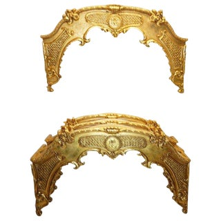 Louis XVI Style Giltwood Window Cornices For Sale