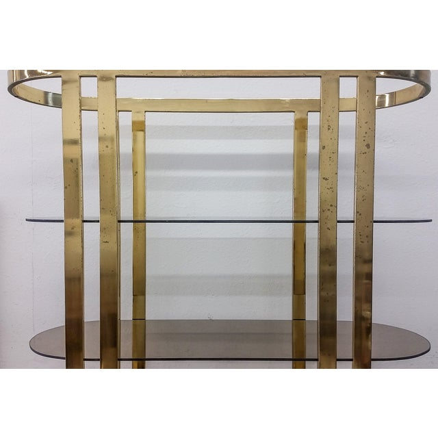1970s Hollywood Regency Brass Etagere - Image 4 of 5