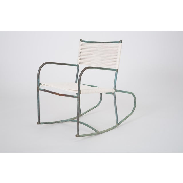 A late 1940s or early 1950s Walter Lamb rocking chair predating or from the early days of his partnership with Brown...