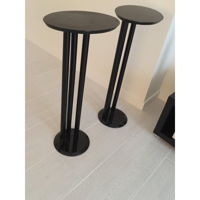 Black Modern Black Display Pedestals- a Pair For Sale - Image 8 of 8
