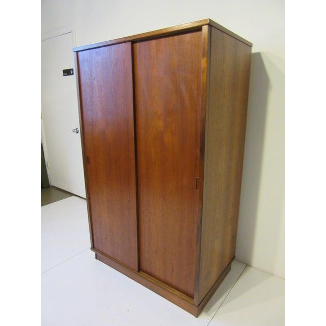 Mid-Century Danish Modern Teak Wardrobe / Armoire For Sale - Image 11 of 11