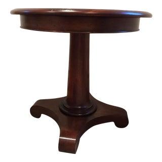 Baker Knapp & Tubbs Round Mahogany Pedestal Table