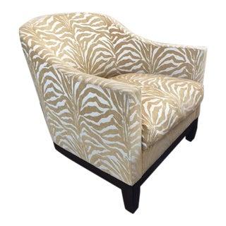 A. Rudin Zebra Print Club Chairs - a Pair