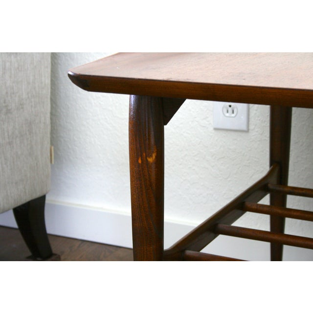 Brown 1960s Danish Modern Bassett Surfboard End Tables - a Pair For Sale - Image 8 of 12