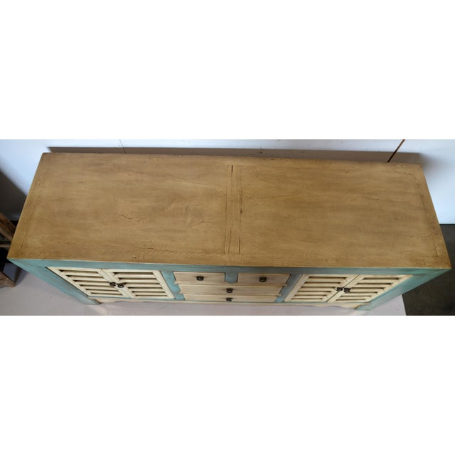 Paint Vintage Chinese 4 Door Buffet For Sale - Image 7 of 8