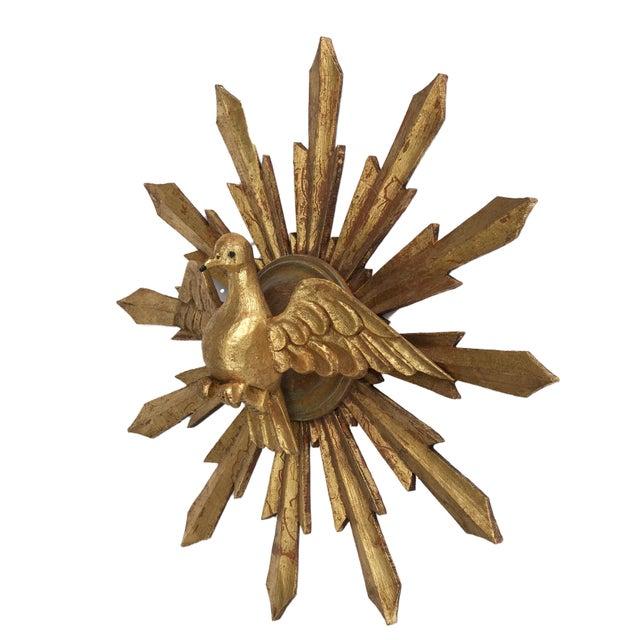 Wooden Dove Sunburst the Holy Spirit For Sale - Image 4 of 7