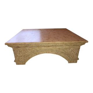 Kreiss Style Square Distressed Coffee Table For Sale