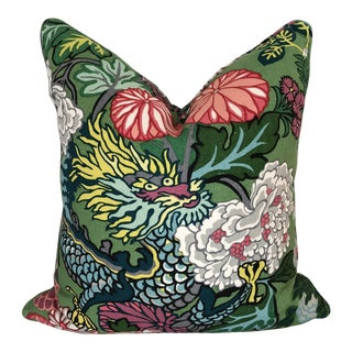 Schumacher Chiang Mai Dragon Pillows With Self Piping