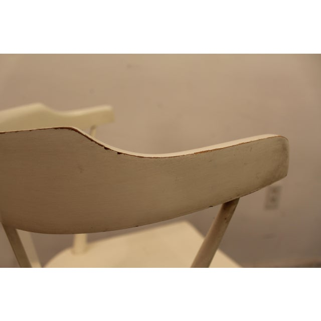White Mid-Century Danish Modern White Paul McCobb Planner Group Desk Side Chair For Sale - Image 8 of 11