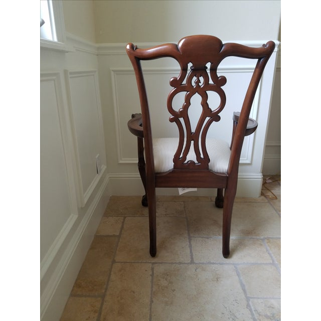 Ethan Allen Chauncey Dining Chairs - Set of 6 - Image 7 of 11