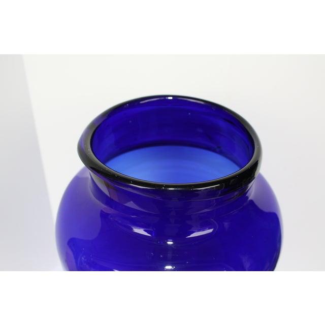 "European Cobalt Glass Pickling Jar 17"" - Image 4 of 5"