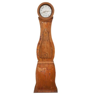 19th Century Swedish Long Case Clock For Sale