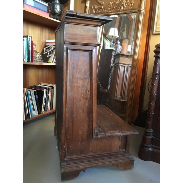 1900s Renaissance Revival Oak Prie Dieu Watson & Boaler Nighstand For Sale - Image 4 of 11