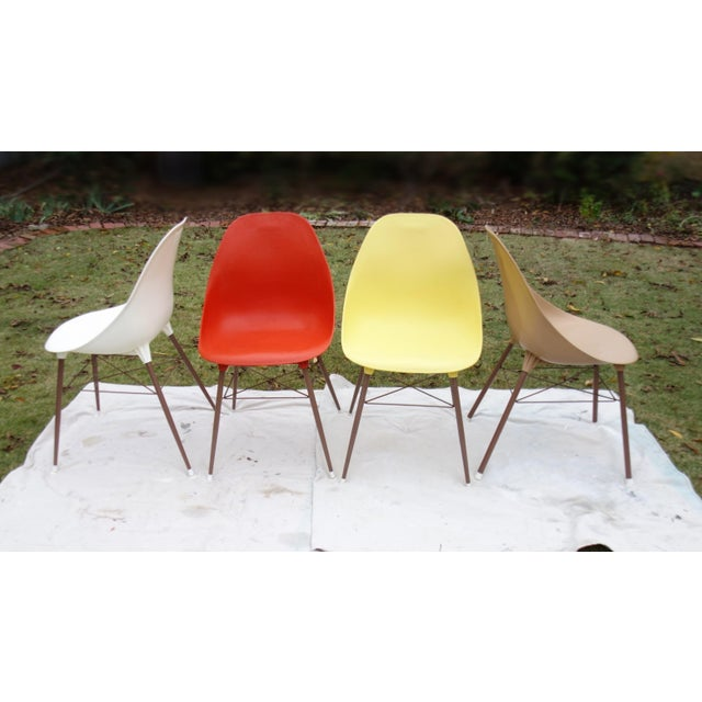 Vintage Sam Avedon Shell Dining Chairs - Set of 4 - Image 4 of 8