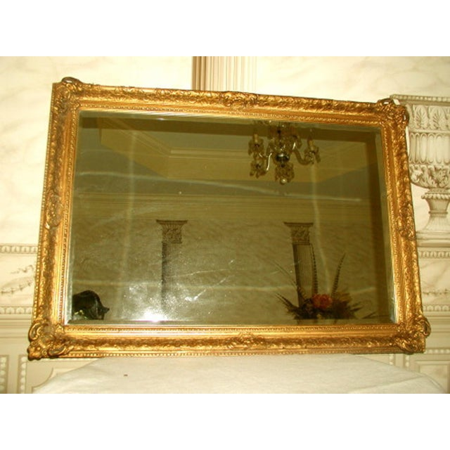 French 19th C. Carved Gilt Frame & Beveled Mirror - Image 2 of 10