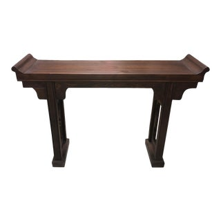 Asian Antique Style Distressed Altar/Console Table For Sale