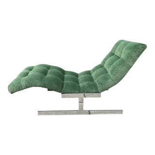 Wave Chaise Lounge by Milo Baughman For Sale