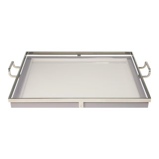 Steven Gambrel Collection Howard Tray Large in Grey For Sale