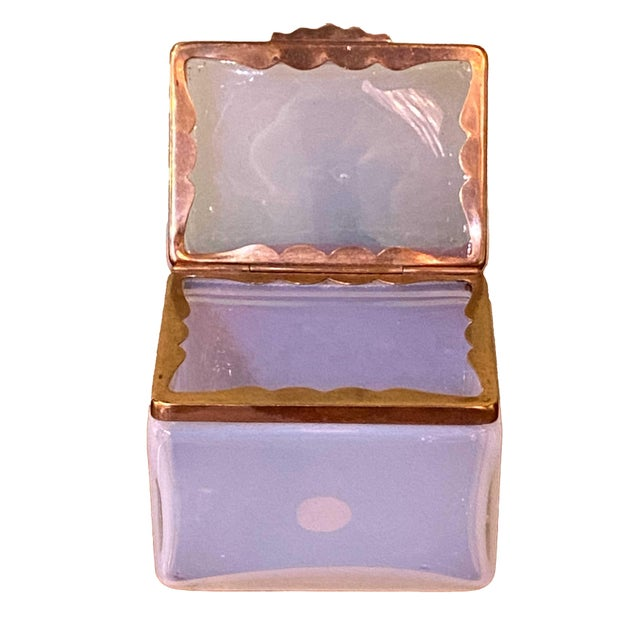 Mid 20th Century Mid 20th Century Murano Clear White Box For Sale - Image 5 of 7