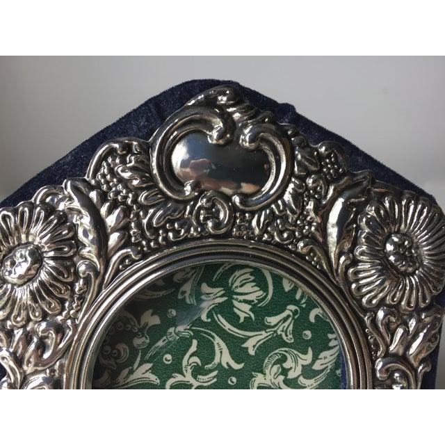Vintage Silver Ornate Velvet Back Frame - Image 5 of 6