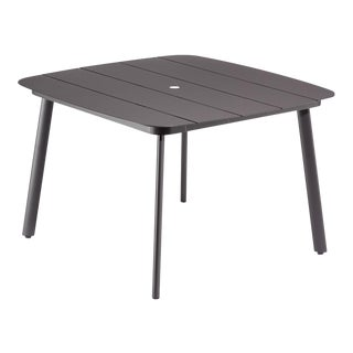 "45"" Square Outdoor Dining Table, Carbon For Sale"