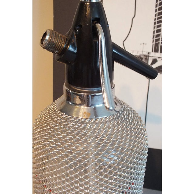 Vintage Wire Mesh Siphon Bottle & Ice Bucket -Pair - Image 6 of 11