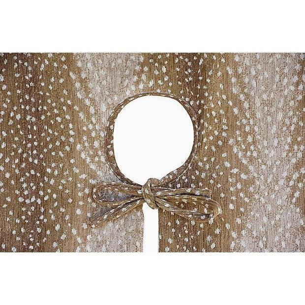 """Only One Left!!! X-Large 55"""" Custom Tailored Deer Fawn Velvety Chenille Christmas Tree Skirt - Image 7 of 9"""