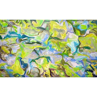 """Appalachian Stream"" by Trixie Pitts Large Abstract Oil Painting For Sale"