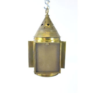 Antique Swinging Lantern Converted Electric Pendant Light Preview