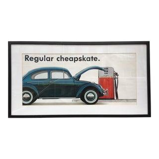 Original 1960's VW Dealership Poster For Sale