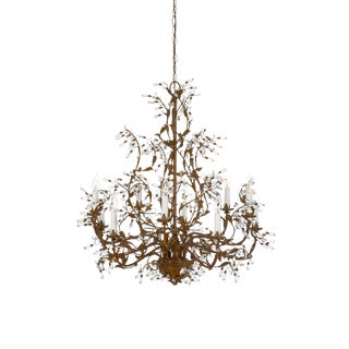 Wildwood Crystal Buds Chandelier For Sale