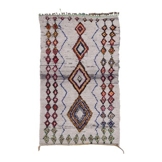 """Ivy Moroccan Berber Wool Rug - 4'4"""" X 7'3"""" For Sale"""