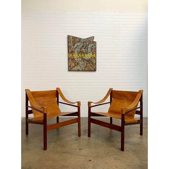 Abel Gonzalez Safari Sling Lounge Chairs - a Pair For Sale In Los Angeles - Image 6 of 13
