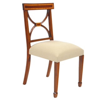 Sheraton Inlaid Mahogany Side Chair For Sale