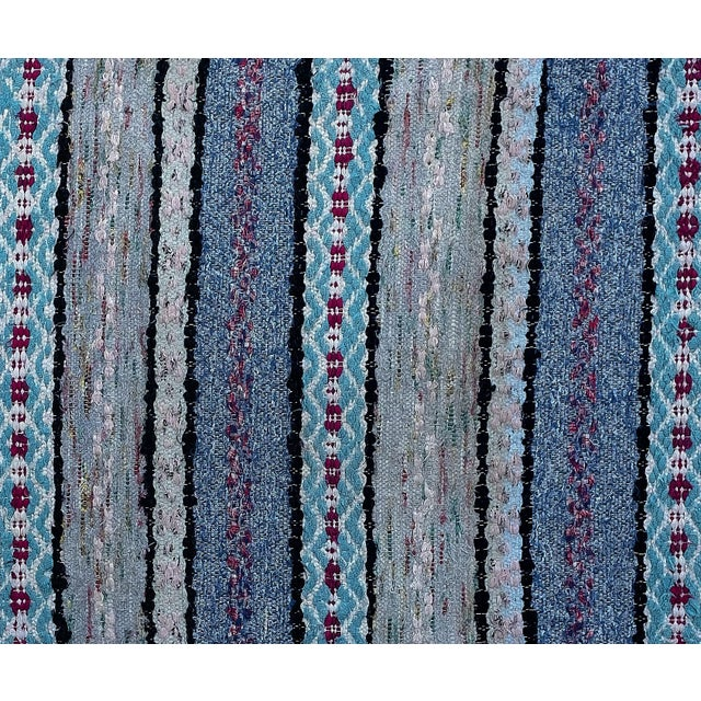"""Handwoven Vintage Swedish Rug by Scandinavian Made 38"""" X 26"""" For Sale - Image 4 of 5"""