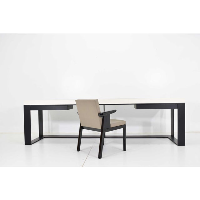 Contemporary Christian Liaigre Connectable Leather Desk For Sale - Image 3 of 12