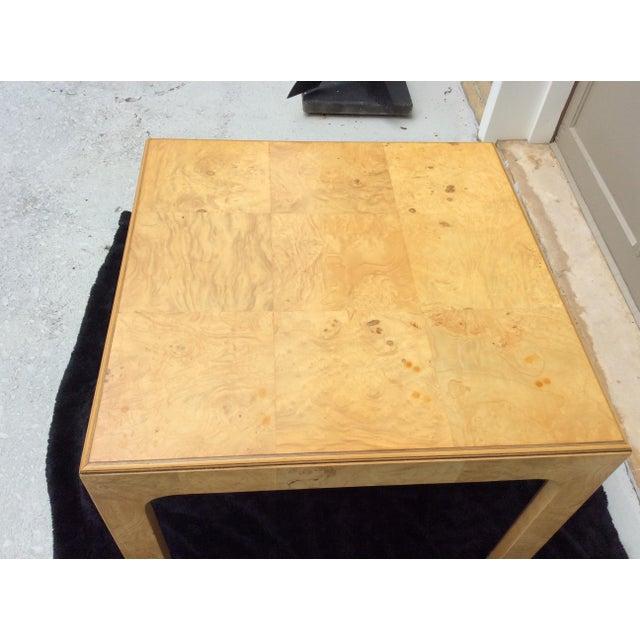 1970s Mid Century Modern Henredon Scene Two Burlwood Table For Sale - Image 5 of 11