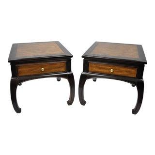 Pair Bernhardt Flair Oriental Asian Style End Side Tables James Mont Shibui Vintage