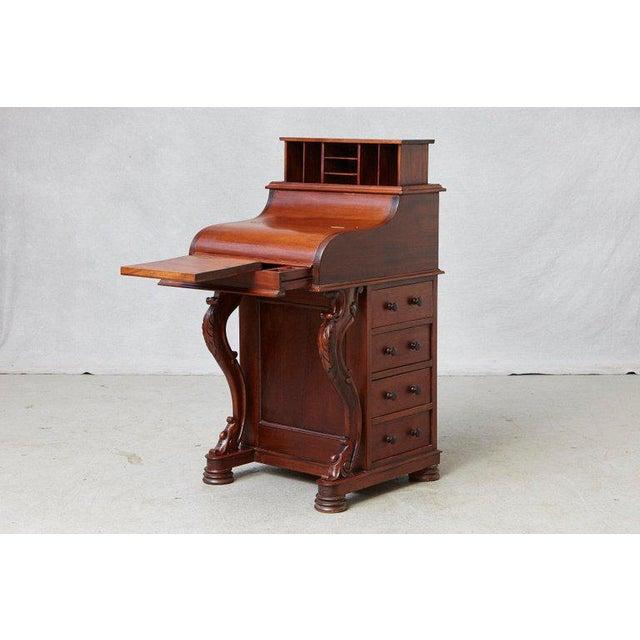 20th Century Walnut Piano Top Davenport Desk For Sale - Image 13 of 13