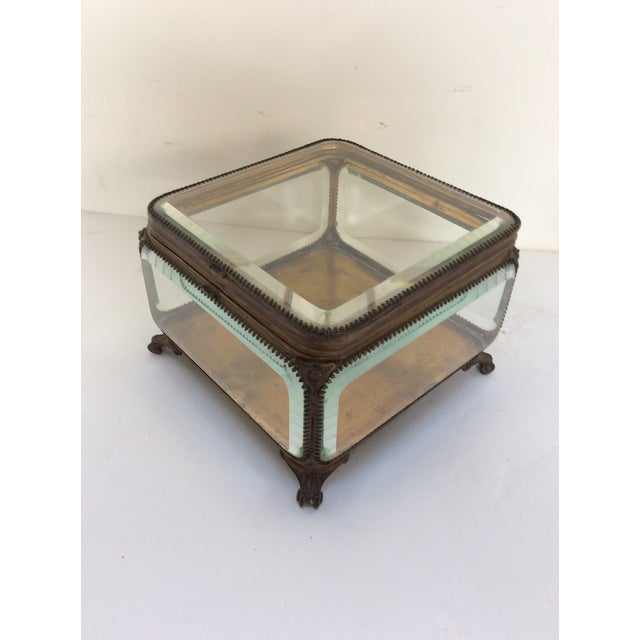 Modern Metal Mounted Glass Box For Sale - Image 3 of 6
