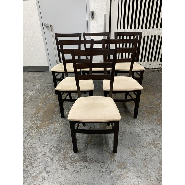 Calligaris Extendable Dining Table + Six Chairs Set For Sale - Image 9 of 13