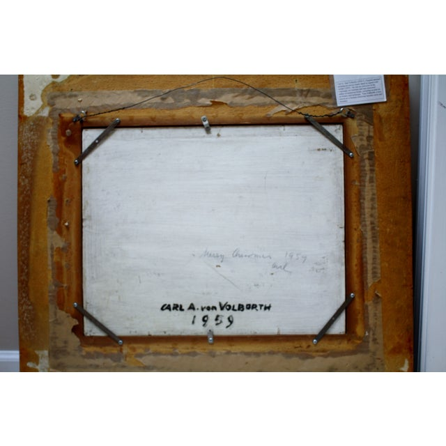 Carl A. Von Volborth Abstract Painting For Sale - Image 5 of 5