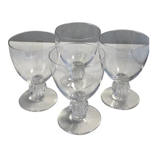 Lalique Langeals Crystal Glasses - Set of 4 For Sale