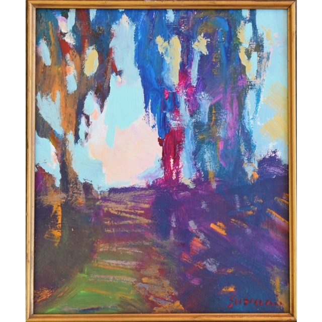 "Abstract Ojai California Landscape Painting by Juan ""Pepe"" Guzman For Sale - Image 3 of 10"