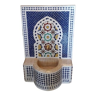 Multi-Color Moroccan Mosaic Tile Fountain For Sale