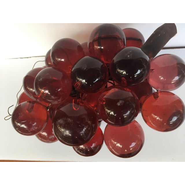 1960's Bunch of Lucite Ruby Red Grapes For Sale - Image 4 of 10