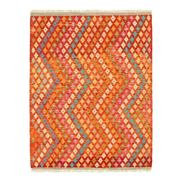 "Turkish Kilim Rug- 4'11"" X 6'4"" For Sale"