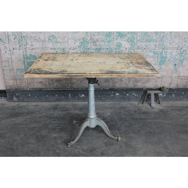 Early 20th Century Early 20th C. Antique American Drafting Table For Sale - Image 5 of 5