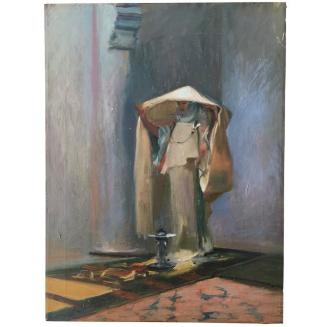 Vintage Oil Painting of a Woman - Image 2 of 3